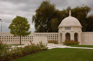 The Neuve Chappelle Memorial. 4703 names are inscribed on it. (Commonwealth War Graves Commission)