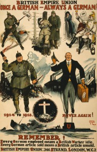 British Anti-German poster c1919