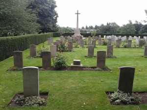 War graves and memorial in Nottingham Road Cemetery, Derby